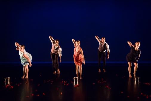 """Dark Waters"", Barnstorm 2017, Photo: Lynn Lane, Performers: Anna Clare Harris, Adam Castenada, Christopher Cardenas, Joanna Bowen, and Elaine F.K. Field"