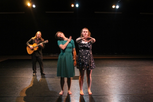 """""""Their Feet Never Touch the Ground"""", PC: Amy Smith, Dancers: Anna Clare Harris and Kate Rash, Musician: William vonReichbauer"""