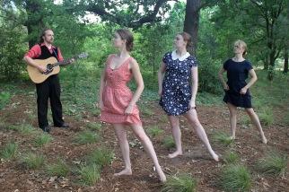 """""""Dark Waters"""", PC: Amy Smith, Dancers: Anna Clare Harris, Joanna Bowen, and Elaine F.K. Fields, Musician: William vonReichbauer"""