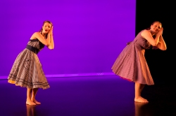 """Good Feet, Long Hair, and other words of wisdom"""" Dancers: Elaine F.K. Fields and Anna Clare Harris Photo: Lynn Lane Mind the Gap, 2017"""